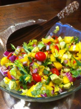 Avocado Mango Tomatoes Salad