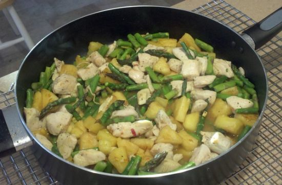 No Fat Added Pineapple Chicken Asparagus