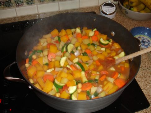 Moroccan Veggie Stew (adapted)