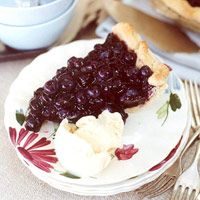 Blueberry Mint Pie