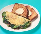 Spinach & Bacon Omelet w/ Buttered Toast