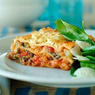 Turkey Spinach Lasagne