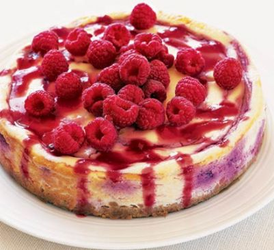 Baked Raspberry un-Cheesecake