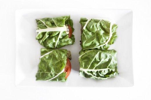 Black bean and avo lettuce wrap