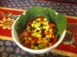 Mexican Salad (black bean-corn-tomato-avocado)