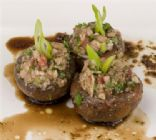 Raw Stuffed Mushrooms
