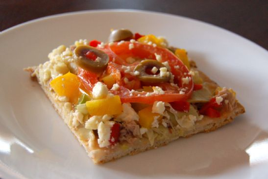 Mediterranean Tuna Pizza