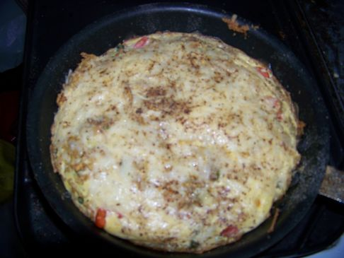 agassifan veggie asiago frittata w/ flax seed meal