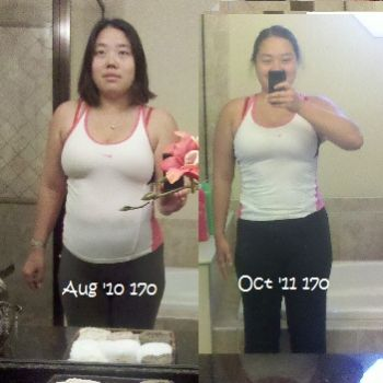 Lose -22 in = 0 lbs diff     BUT up 7 in and GAIN 13 lbs