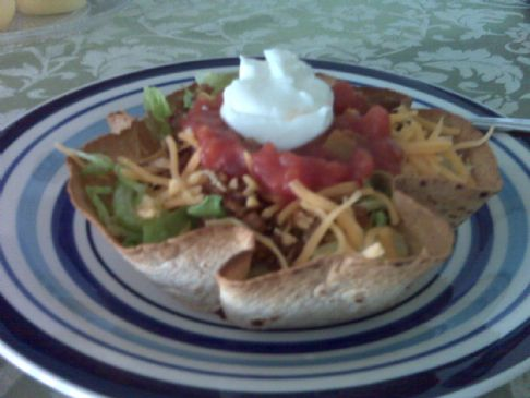 HG Little Taco Salad in a Shell