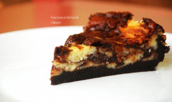 Flourless Chocolate and Vanilla Marble Cake