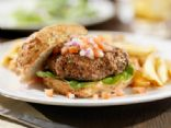 Mushroom-N-Onion Stuffed Burger