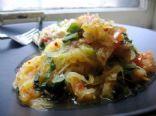 Garlic Spinach & Tomato Spaghetti Squash