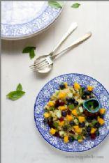 Blueberry Mango Quinoa Salad with Lemon Basil Dressing Recipe - a Veggie Belly recipe