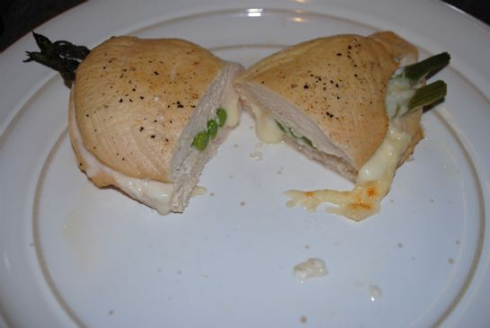 Stuffed Chicken with Provolone and Asparagus