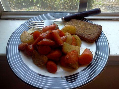 Honey Glazed Braised Carrots & Turnips
