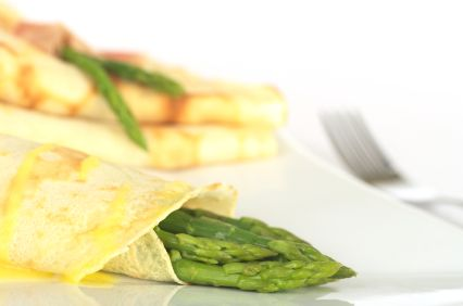 Crab and Asparagus Crepes