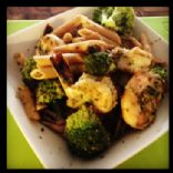 Pesto Broccoli and Shrimp Pasta