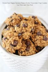 Gluten-Free Vegan Banana Peanut Butter Chocolate Chip (raisin) Cookies