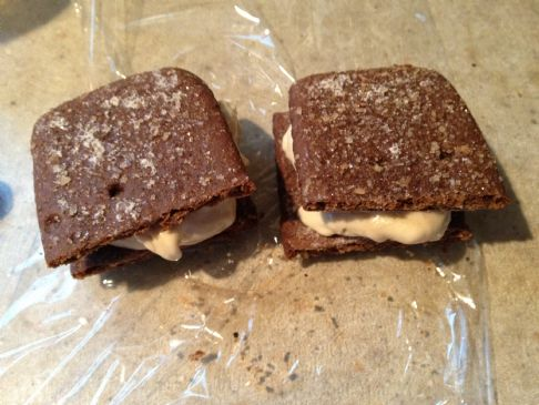 Grateful Grahams Chocolate Peanut Butter Banana Ice Cream Sandwiches