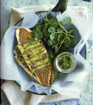 Snapper with Zucchini Pesto