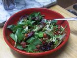 Baby Greens with Pancetta Dressing