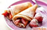Fluffy Strawberry Crepes