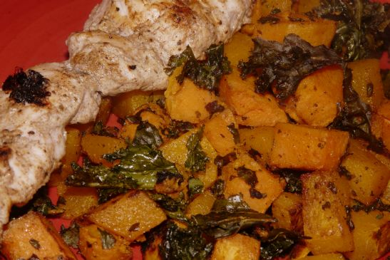 Roasted Curry Harvest Vegetables