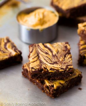 Skinny Peanut Butter Swirl Brownies