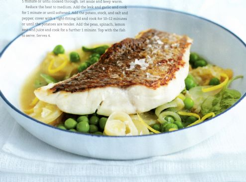 Pan-fried Fish with Potato & Leek
