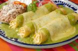 Creamy Green Enchiladas