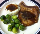 Skillet Pork Chops with Garlic and Rosemary
