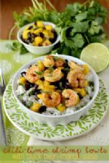 Chili Lime Shrimp with Lime Cilantro Rice