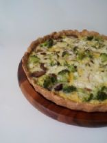 Oatmeal and Veggie Quiche