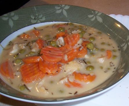 MAKEOVER: Slow Cooker Cream of Chicken and Rice Soup (by ATTACKFATCAT)