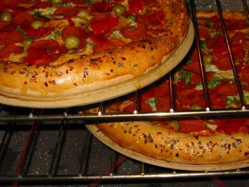 *Vegitarian Pepperoni Pizza (Double Recipe for Bread Machine)