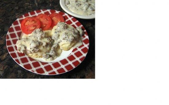 Kicked up a notch reduced calorie Jimmy Dean Sausage gravy (2% Milk)