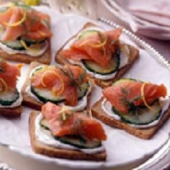 Smoked Salmon & Cucumber Tea Sandwiches