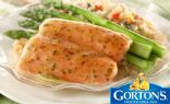 Simply Bake Salmon with Asparagus and Rice Pilaf from Gortons