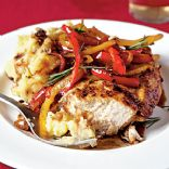 Cooking Light - Roast Chicken with Balsamic Bell Peppers