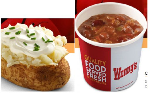 Wendy's Chili Stuffed Potato