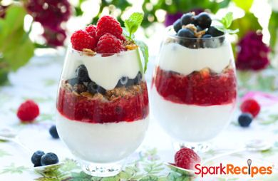 Patriotic Fruit & Yogurt Parfaits
