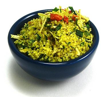 Saffron, Zucchini and Herb Couscous