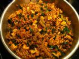 Rotini with tofu and veggies