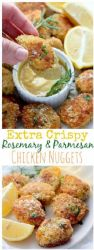 Rosemary Parmesean Chicken Nuggets