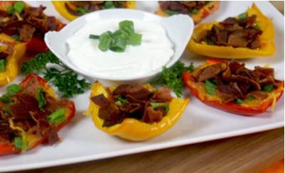 Bacon n' Cheese Bell Pepper Skins - Hungry Girl