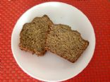 banana bread, whole wheat with flax