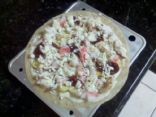 Crabmeat, Wild Mushroom and Goat Cheese Alfredo Pizza