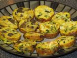 Egg Muffin with Spinach, Tomato and Cheese