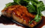 Pan Seared Salmon with Balsamic Glaze